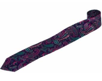 Mens Tie.Purple Jacquard Pattern Tie.Purple Paisley Tie.Wedding Necktie.Tie Gift Set.Mens Gifts.Matching Set