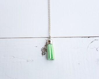 Seafoam in Spring - Diffuser Tassel Necklace | Seafoam Green Diffuser Tassel | Daisy Charm