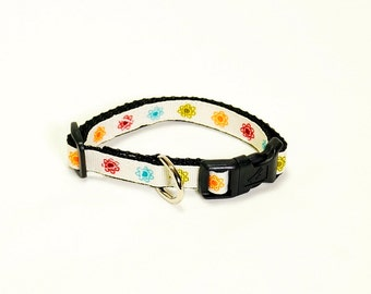 """Little Flowers Dog Collar (1/2"""" width-Extra Small)"""
