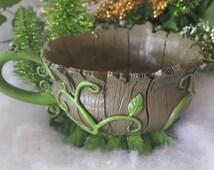 Miniature Woodland Tea Cup Planter