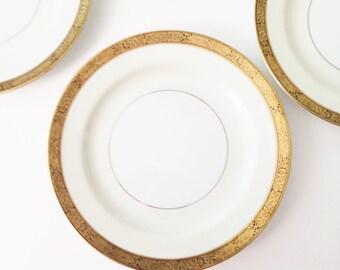 Noritake Goldkin luncheon salad plates, set of 5