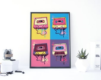 Retro Wall Decor 80s decor | etsy
