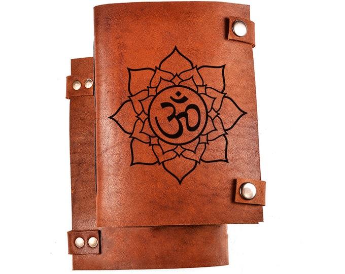 Ohm journal - ohm notebook - ohm sketchbook - leather ohm journal - leather journal personalized - leather journals etsy