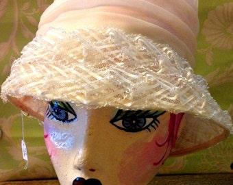 Vintage Hat-Layered Cream