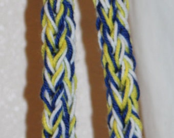 Blue, Yellow, and White Lei