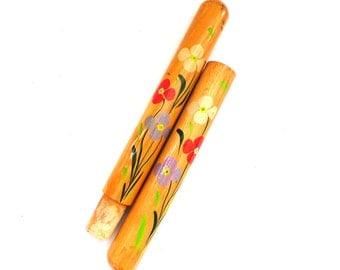 Needle Case. Vintage Floral needle case. Folk art souvenir. Sewing storage #5E8G132K32