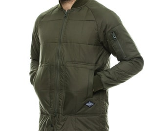 Special Offer ! One Of a Kind Winter Jacket - Stylish Coat in Olive - Army Style Jacket in Olive - Wind Jackets By Krakatau