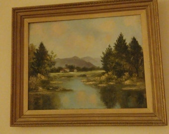 Unsigned Orrin White Landscape Oil Painting
