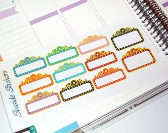 movie theater marquee planner stickers || 11 glossy stickers