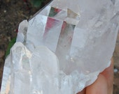 Large Clear Quartz Crystal | Clear Cluster from Brazil |  Healing Stone | Mineral Specimen #1