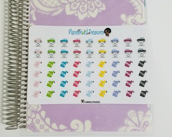 Car Repair Stickers, Oil Change Stickers, Planner Stickers, Reminder Stickers, Functional Stickers
