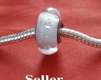 Authentic Pandora White Effervescence Glass Bead Charm