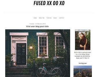Blogger theme Fused XX OO XO