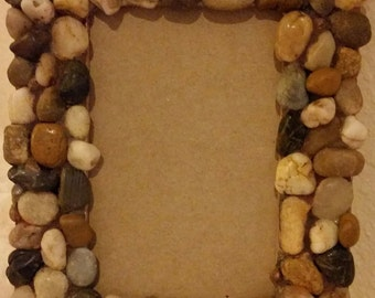 Picture Frame Beachy Nature with Stones 4x6