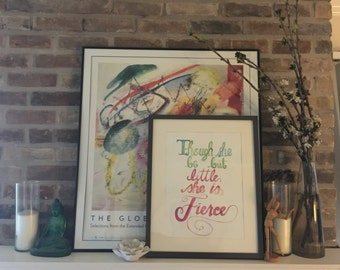 Shakespeare Quote in Watercolor