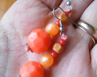 Earrings red and orange (18)