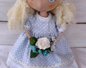 Textile doll interior doll art doll