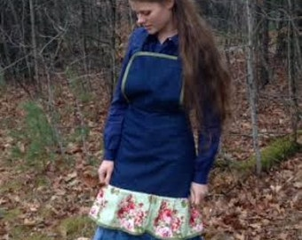 Floral and Denim apron