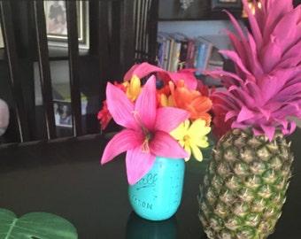 Mason Jar Flower Party Decorations