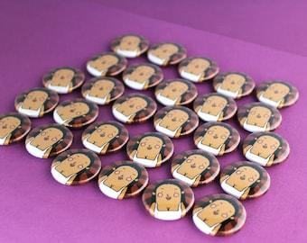 Kim Kardashian -  button badge - cute pin badge - funny badge - Kim Kardashian pin - Mother's Day gift