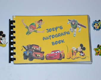 Disney Autograph Book (4X6) - 80+ Characters plus multiple cover options - Personalized Options Available