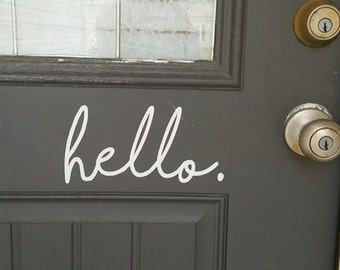 Hello Door Sticker