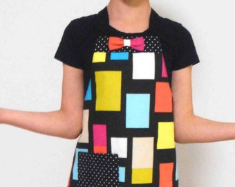 Mother/daughter Full Apron Set - 'Pop Art'