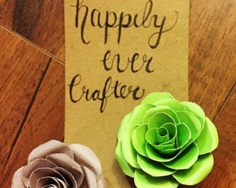 Custom paper flower barrette (two count)