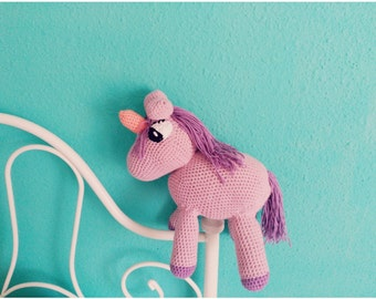 Stuffed Unicorn Amigurumi, gift for children