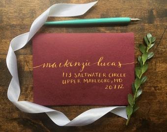 Hand Addressed Calligraphy- Mackenzie Style