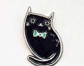 Black Cat Pin Black Cat Enamel Pin Cat Black Cat Jewelry Black Cat Lapel Pin