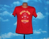 Golds Gym Toronto Mississauga California Red Tshirt Vintage 1980s