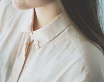 Girl Enamel Pins. Art Illustration Pins
