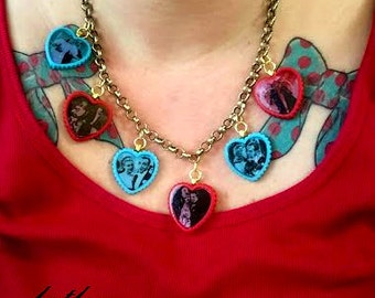 Fred and Ginger Heart Charm Necklace
