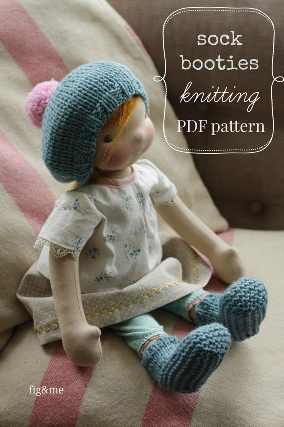 Doll clothing knitting pattern Waldorf Style Doll by figandme