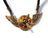 Steampunk Winged Propeller Pendant for the Gents