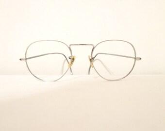 Spectacular John Lennon Glasses Bigger Antique Spectacles Eyeglass Frame Goggles Steampunk Early Aviator Metal Steve Jobs Harry Potter sale