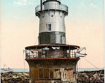 Antique Connecticut Postcard - Sperry Light, New Haven (Unused)