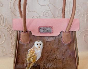 "Genuine leather handbag ""Barn owl"""