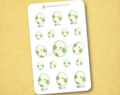 Pokemon Egg Stickers - Kawaii Chibi Pokemon planner stickers, EC stickers, Personal Planners