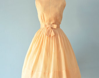 Vintage 1960s Dress...Darling Buttery Yellow Party Dress Garden Party Dress