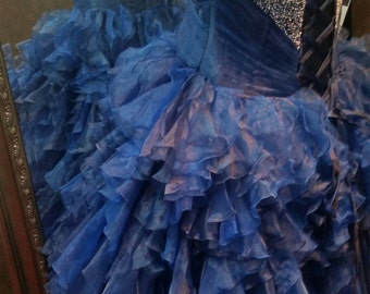 Blue Bridal Ballgown Wedding Dress READY TO SHIP