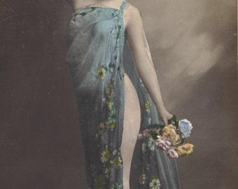 May Flowers 4, Risque French Faux-Nude by M.F. Paris, circa 1904