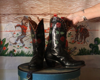 Custom made 1940s shortie cowgirl boots