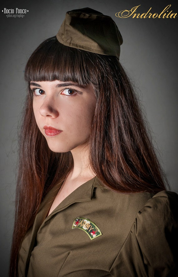 Steampunk Military Wedge Cap - Custom color hat