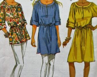 Butterick 5612 Sewing Pattern, Woman's Top Pattern, Dress Pattern, Ladies' Tunic, Bust 29.5 to 36, 2011 Sewing Pattern, Cut Line Pattern