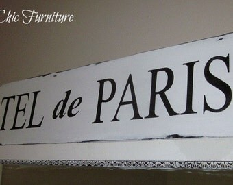 HOTEL DE PARIS Sign~French Paris Guest Room~Custom Colors Available