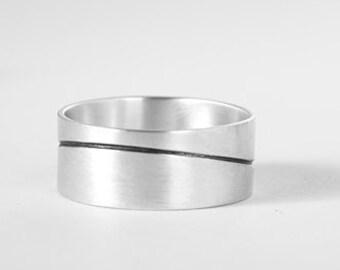 Men's Wedding Ring, Men's Wedding Band, Silver Wedding Band, Men's Silver Wedding Band, Handmade Wedding Band