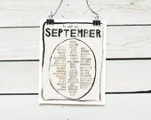 seasonal food calendar - perpetual calendar - unbound 11x14 prints