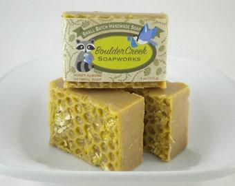 Honey Almond Oatmeal Soap- handmade cold process soap